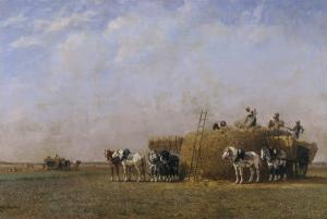 Loading the Hay Carts by Sir William Beechey