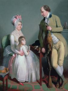 Mr and Mrs Custance of Norwich and their Daughter Frances, C.1786 by Sir William Beechey