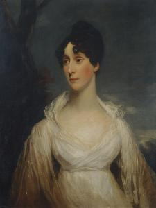 Portrait of a Lady Seated, Half Length, Wearing a White Dress by Sir William Beechey