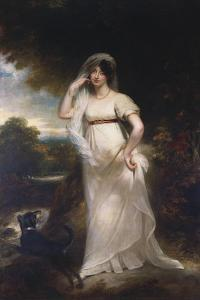 Portrait of Harriet Wells in a River Landscape by Sir William Beechey