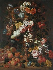 Roses, Dahlias, Convolvulus, a Tulip and Other Flowers, 1689 by Sir William Beechey