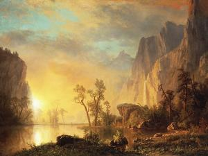 Sunset in the Rockies by Sir William Beechey