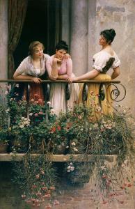 The Balcony by Sir William Beechey