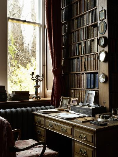 Sir William Gladstone's Desk, Hawarden Castle--Photographic Print