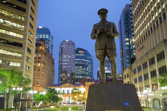 Sir William Glasgow Statue on Post Office Square, Brisbane, Queensland, Australia, Oceania-Frank Fell-Photographic Print