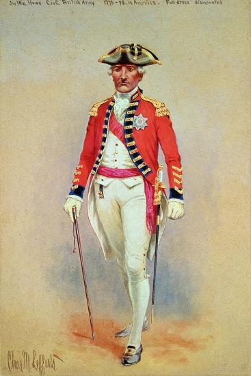 Sir William Howe, Commander in Chief of the British Army (1776-78) in Full Dress Dismounted-Charles MacKubin Lefferts-Giclee Print