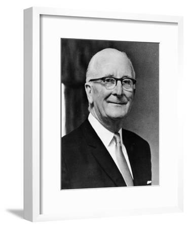 Sir William Lyons on His 70th Birthday, 1971--Framed Giclee Print