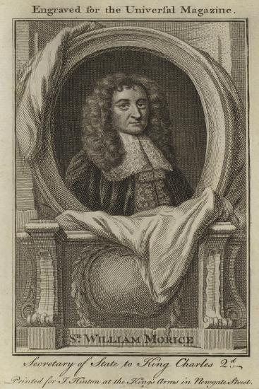 Sir William Morice, Secretary of State to King Charles 2nd--Giclee Print