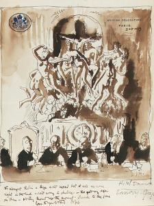 At the Peace Conference, Paris (Pen, Ink and Wash on British Delegation Paris Headed Paper) by Sir William Orpen