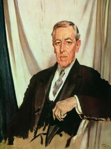 Portrait of Woodrow Wilson (1856-1924) c.1919 by Sir William Orpen