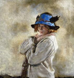 The Blue Hat by Sir William Orpen