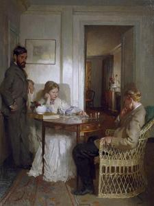 The Chess Players, Pre 1902 by Sir William Orpen