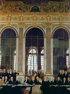 The Treaty of Versailles, 1919 by Sir William Orpen