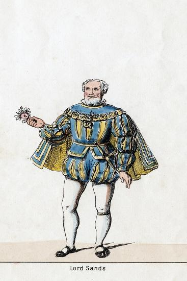 Sir William Sands, Costume Design for Shakespeare's Play, Henry VIII, 19th Century--Giclee Print