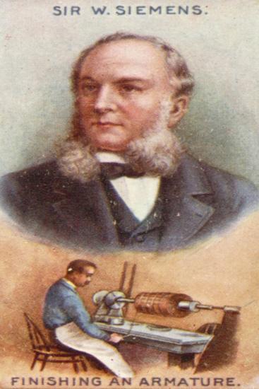 Sir William Siemens, Finishing an Armature--Giclee Print