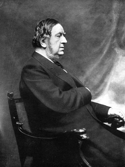 Sir William Vernon Harcourt, British Liberal Statesman, 19th Century-Elliott & Fry-Giclee Print