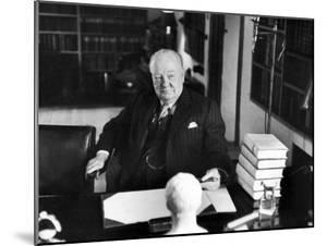 Sir Winston Churchill, Sitting Behind Desk at Chartwell