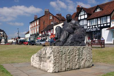 Sir Winston Churchill Statue, Westerham, Kent-Peter Thompson-Photographic Print