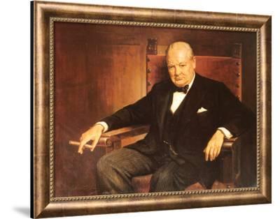 Sir Winston Churchill-Arthur Pan-Framed Art Print