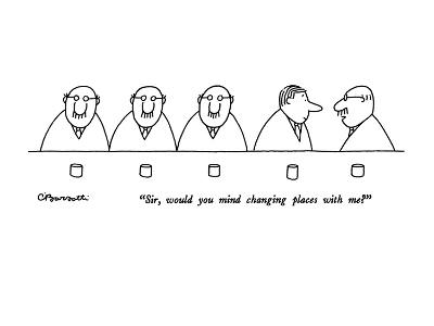 """Sir, would you mind changing places with me?"" - New Yorker Cartoon-Charles Barsotti-Premium Giclee Print"