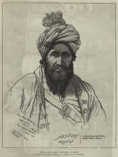 Sirdar Abdul Khalik Khan, Chief of Bezoot-William 'Crimea' Simpson-Giclee Print