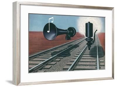 Siren and Whistle--Framed Art Print