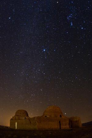Sirius, Canopus, and Orion Over 1600-year-old Sasan Palace Ruins-Babak Tafreshi-Photographic Print