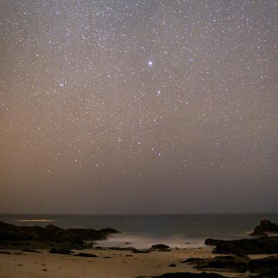 Sirius In Canis Major Over a Beach-Laurent Laveder-Photographic Print