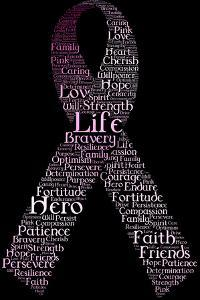 Typography Pink Ribbon by SirTallGuy
