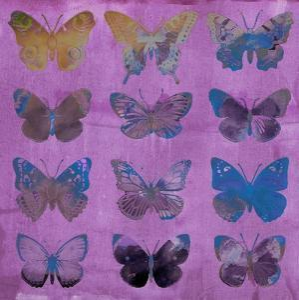 Butterflies on Magenta by Sisa Jasper