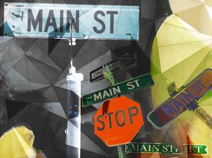 Main Street Collage by Sisa Jasper