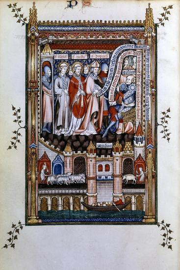 Sisinnius Exhorts St Denis to Renounce His Faith, 1317--Giclee Print