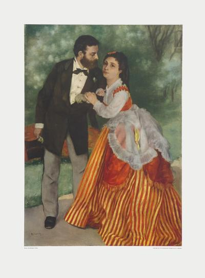 Sisley and his Wife-Pierre-Auguste Renoir-Collectable Print