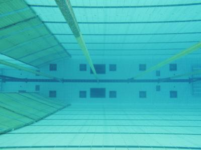 An Underwater Picture of an Indoor Swimming Pool by Sisse Brimberg