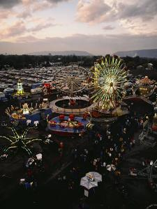 County Fair, Yakima Valley, Rides and Midway, Twilight View by Sisse Brimberg