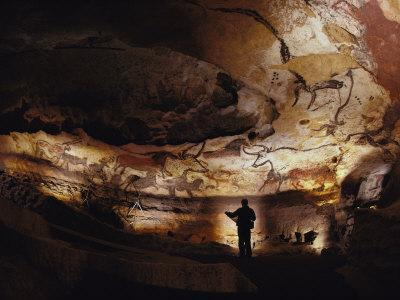 Paleolithic Bulls and Other Animals Crowd Calcite Walls at Lascaux, France