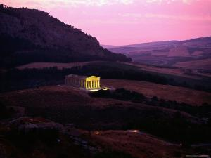 Roman Temple at Segesta Showing Greek Influence by Sisse Brimberg