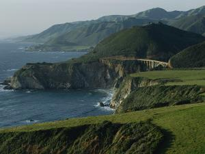 Scenic View of the Bridge over Bixby Creek and the Pacific Coast by Sisse Brimberg