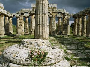 The Doric Columns of the Greek Temple Dedicated to Hera at Paestum by Sisse Brimberg