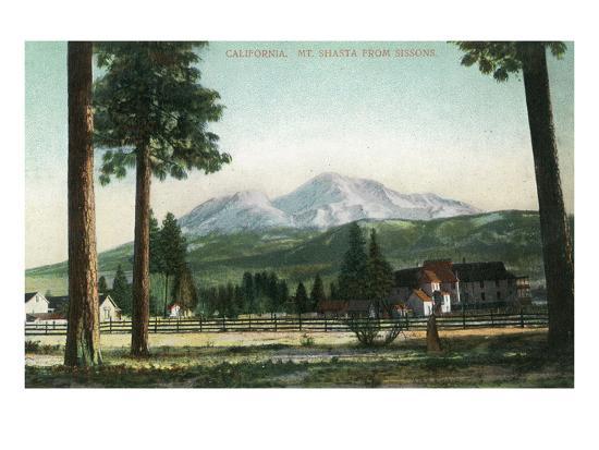 Sisson, California - View of Mt Shasta, Now Mt Shasta City-Lantern Press-Art Print