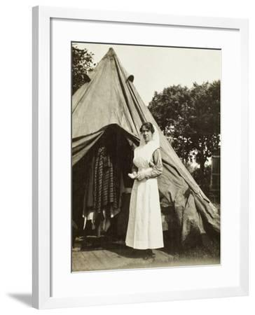 Sister Ada Smith of the 2nd Australian Casualty Clearing Station Near Steenwerck--Framed Giclee Print