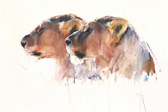 Sisters, Etosha, 2017,-Mark Adlington-Giclee Print