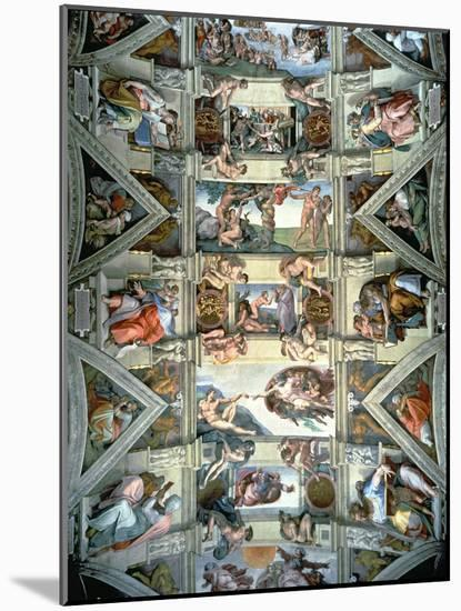 Sistine Chapel Ceiling and Lunettes, 1508-12-Michelangelo Buonarroti-Mounted Premium Giclee Print