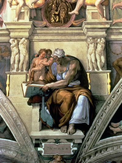 Sistine Chapel Ceiling: Cumaean Sibyl, 1510-Michelangelo Buonarroti-Giclee Print