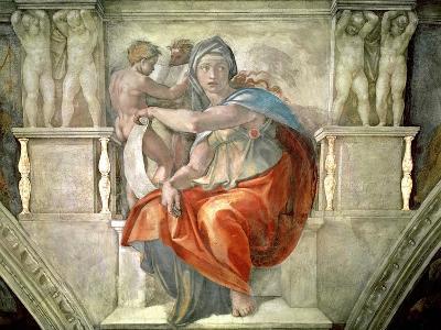 Sistine Chapel Ceiling: Delphic Sibyl-Michelangelo Buonarroti-Giclee Print