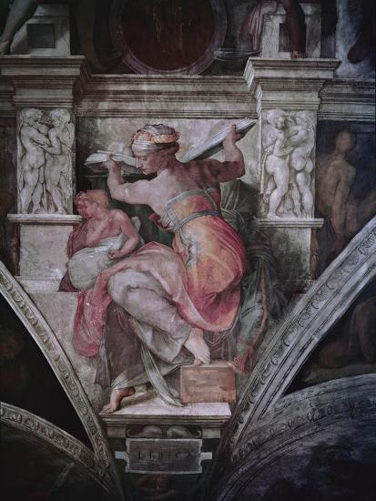 Sistine Chapel Ceiling Libyan Sibyl C 1508 10 Fresco Giclee Print By Michelangelo Buonarroti Art Com