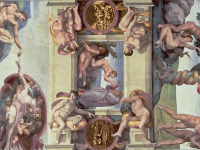 Sistine Chapel Ceiling : the Creation of Eve, 1510-Michelangelo Buonarroti-Giclee Print