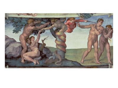 Sistine Chapel Ceiling : the Fall of Man, 1510-Michelangelo Buonarroti-Giclee Print