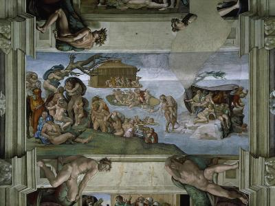 Sistine Chapel Ceiling: the Flood, 1508-12-Michelangelo Buonarroti-Giclee Print