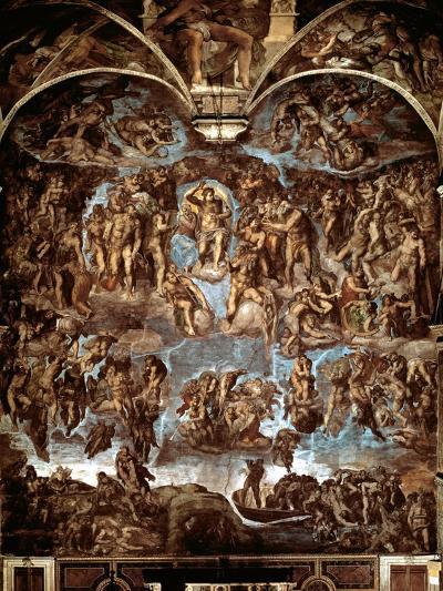 Sistine Chapel: The Last Judgement, 1538-41-Michelangelo Buonarroti-Giclee Print